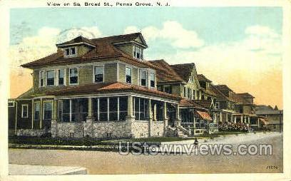 Broad Street  - Penns Grove, New Jersey NJ Postcard