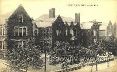 High School  - Perth Amboy, New Jersey NJ Postcard