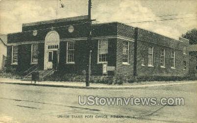 United States Post Office  - Pitman, New Jersey NJ Postcard