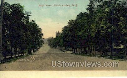 High Street  - Perth Amboy, New Jersey NJ Postcard