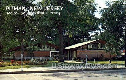 Mccowan Memorial Library - Pitman, New Jersey NJ Postcard