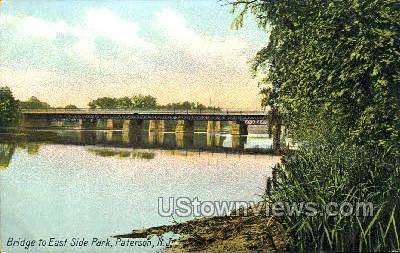 Bridge To East Side Park - Paterson, New Jersey NJ Postcard