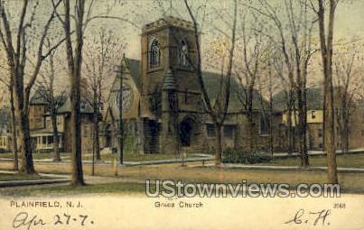 Grace Church - Plainfield, New Jersey NJ Postcard