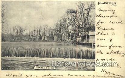 Tiers Pond - Plainfield, New Jersey NJ Postcard