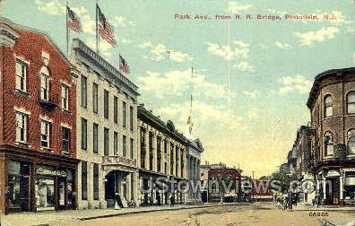 Park Avenue - Plainfield, New Jersey NJ Postcard