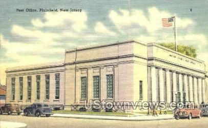 Post Office  - Plainfield, New Jersey NJ Postcard