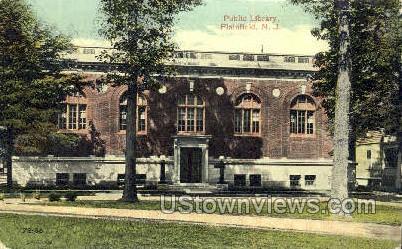Public Library - Plainfield, New Jersey NJ Postcard