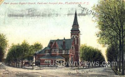 Park Ave. Baptist Church - Plainfield, New Jersey NJ Postcard