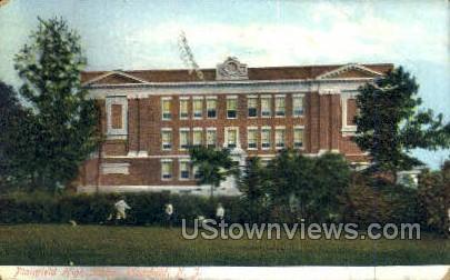 High School - Plainfield, New Jersey NJ Postcard
