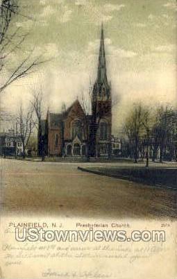Presbyterian Church  - Plainfield, New Jersey NJ Postcard