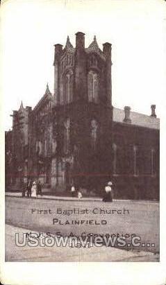 First Baptist Church - Plainfield, New Jersey NJ Postcard