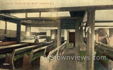 Interior Of Friends Meeting Place - Plainfield, New Jersey NJ Postcard