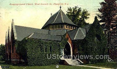 Congregational Church - Plainfield, New Jersey NJ Postcard