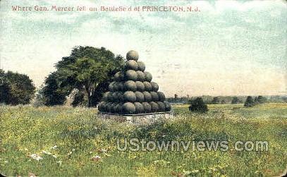 Where General Mercer Fell  - Princeton, New Jersey NJ Postcard