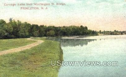 Carnegie Lake, Washington Bridge - Princeton, New Jersey NJ Postcard
