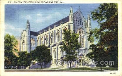 Chapel Princeton University - New Jersey NJ Postcard