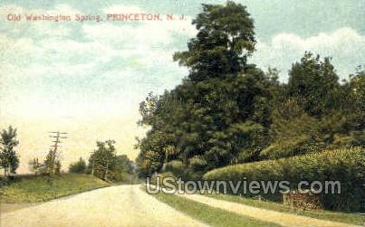 Old Washington Spring  - Princeton, New Jersey NJ Postcard