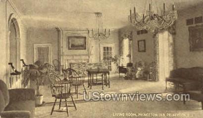 Living Room Princeton Inn - New Jersey NJ Postcard