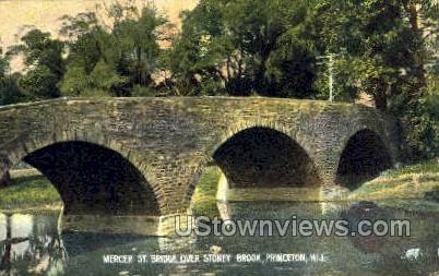 Mercer Street Bridge Over Stony Brook - Princeton, New Jersey NJ Postcard