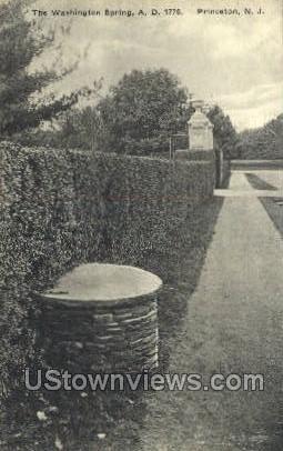 The Washington Spring - Princeton, New Jersey NJ Postcard