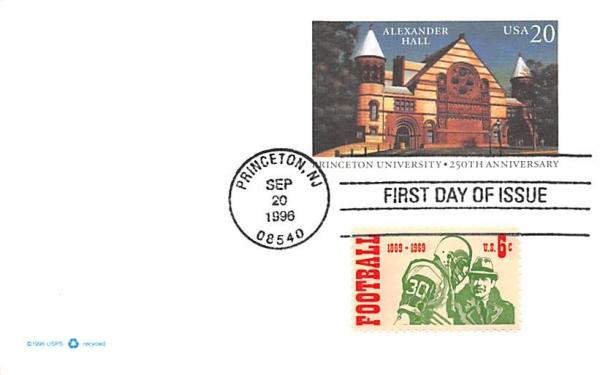 Alexander Hall, Princeton University New Jersey Postcard