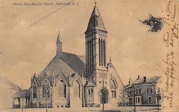 Seven Day Baptist Church Plainfield, New Jersey Postcard