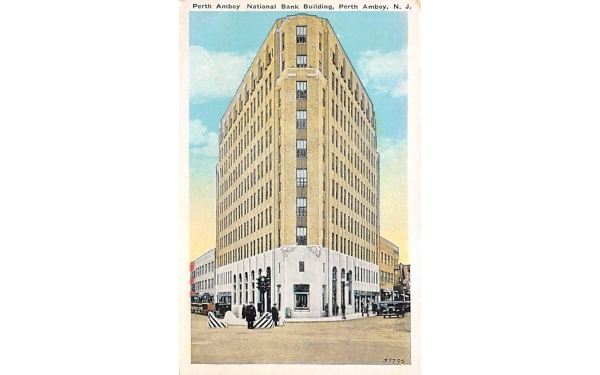 Perth Amboy National Bank Building New Jersey Postcard