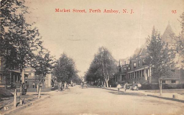 Market Street Perth Amboy, New Jersey Postcard