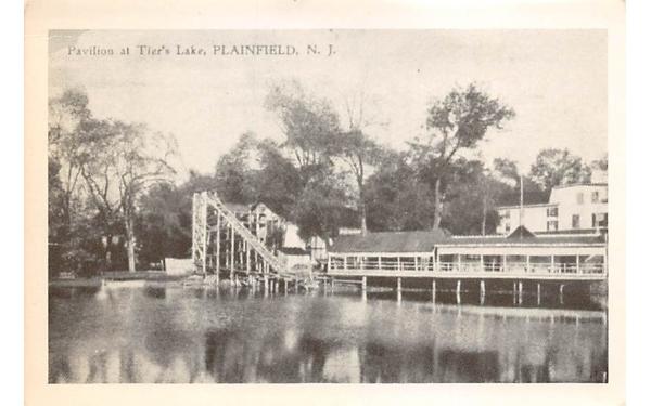 Pavilion at Tier's Lake Plainfield, New Jersey Postcard