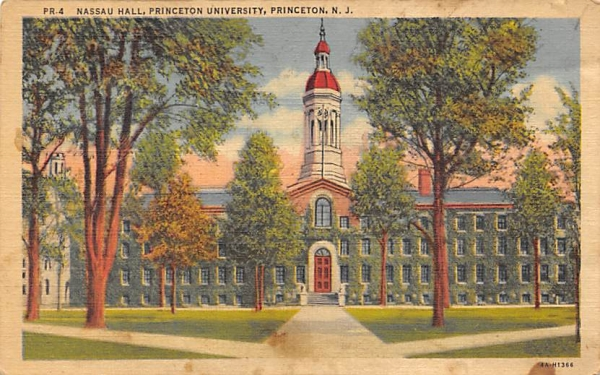 Nassau Hall, Princeton University New Jersey Postcard