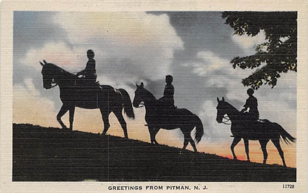 Greetings from Pitman New Jersey Postcard