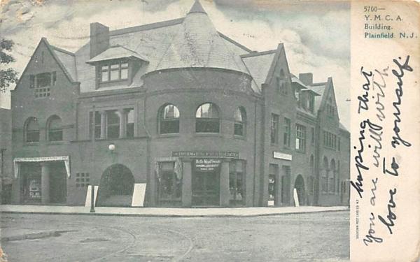 Y.M.C.A. Building Plainfield, New Jersey Postcard