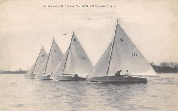 Enjoying Life on Raritan River Perth Amboy, New Jersey Postcard