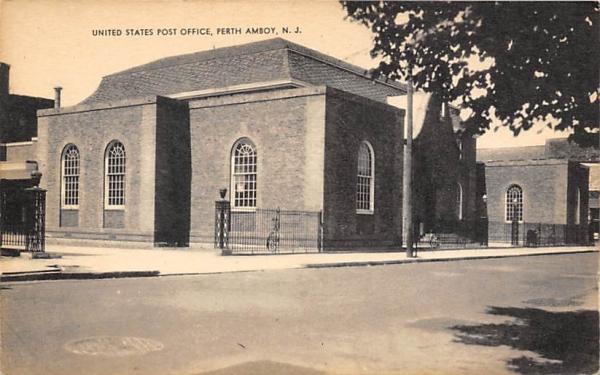 United States Post Office Perth Amboy, New Jersey Postcard