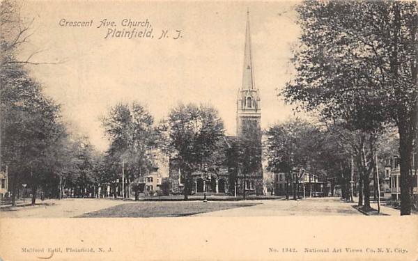 Crescent Ave. Church Plainfield, New Jersey Postcard
