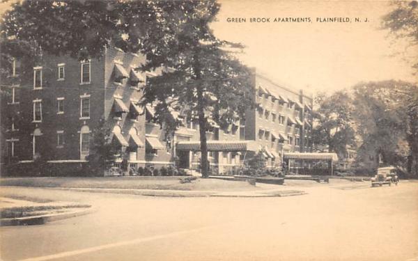 Green Brook Apartments Plainfield, New Jersey Postcard