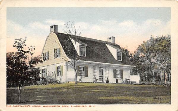 The Caretaker's Lodge, Washington Rock Plainfield, New Jersey Postcard