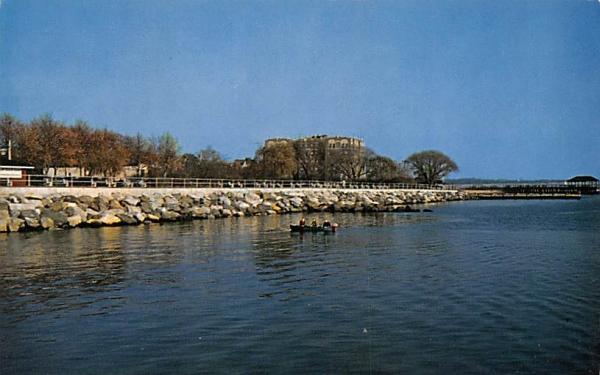 Boardwalk at Waterfront Perth Amboy, New Jersey Postcard