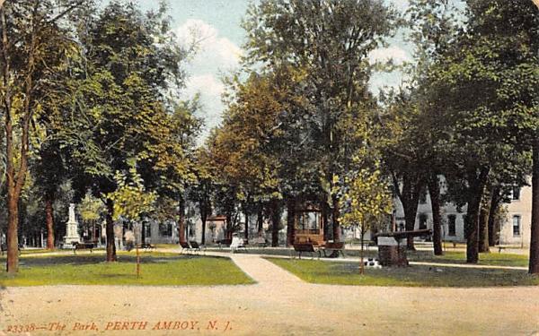 The Park Perth Amboy, New Jersey Postcard