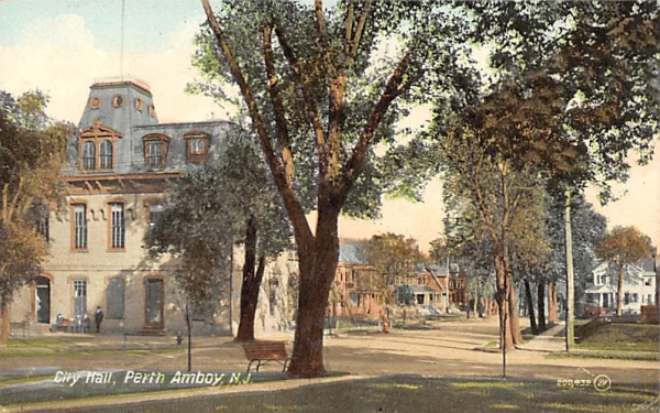 City Hall Perth Amboy, New Jersey Postcard