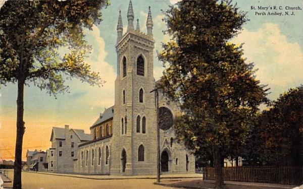 St. Mary's R. C. Church Perth Amboy, New Jersey Postcard