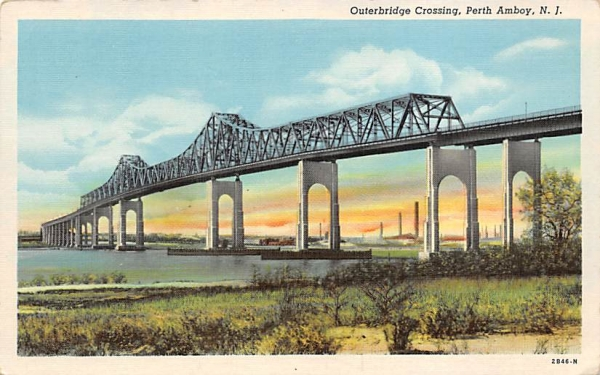 Outerbridge Crossing Perth Amboy, New Jersey Postcard