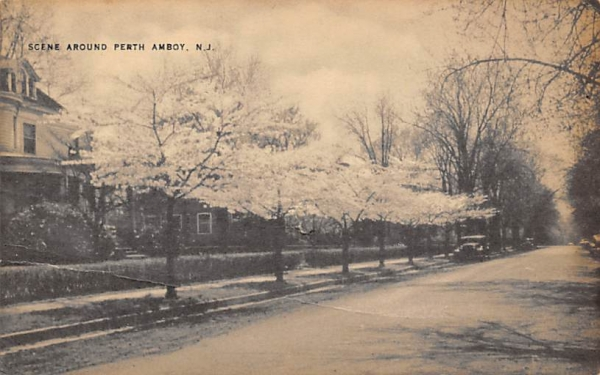 Scene Around Perth Amboy, N. J., USA New Jersey Postcard