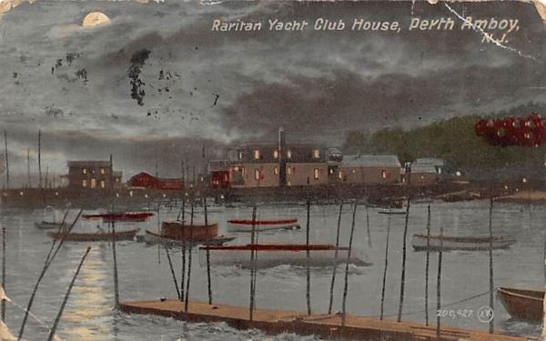 Raritan Yacht Club House Perth Amboy, New Jersey Postcard