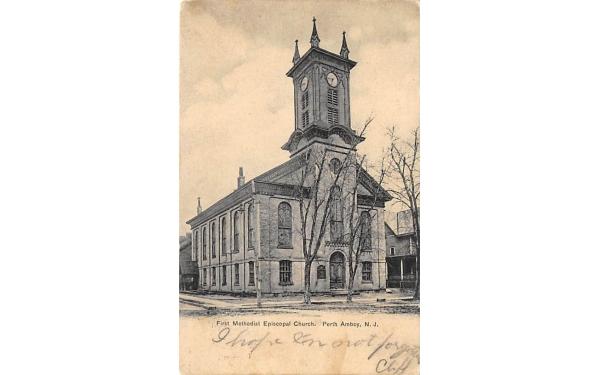 First Methodist Episcopal Church Perth Amboy, New Jersey Postcard