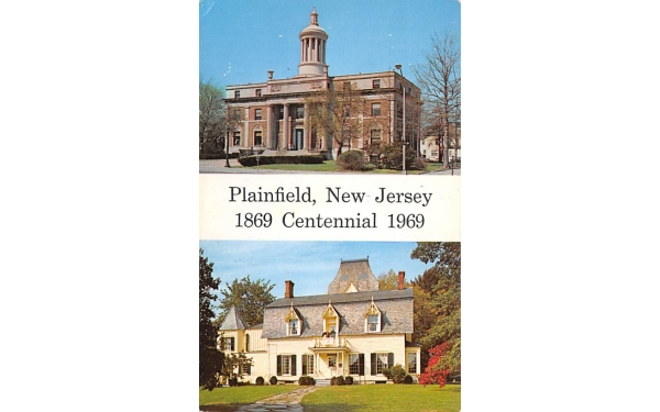 Plainfield's City Hall New Jersey Postcard
