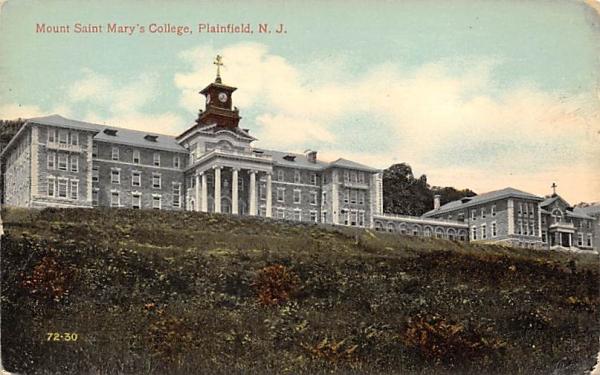 Mount Saint Mary's College Plainfield, New Jersey Postcard