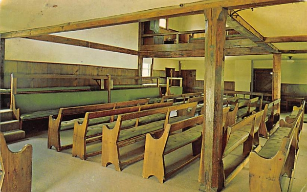 Simple interior of the Friends Meeting House Plainfield, New Jersey Postcard