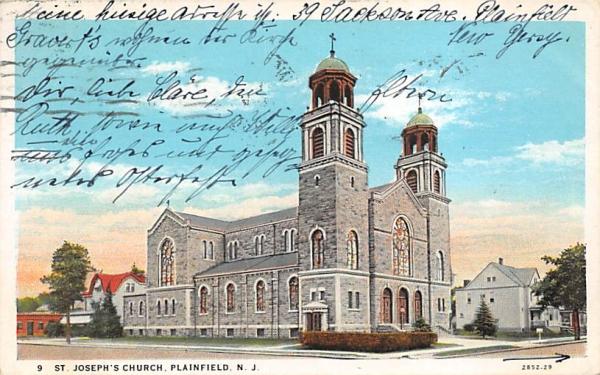 St. Joseph's Church Plainfield, New Jersey Postcard