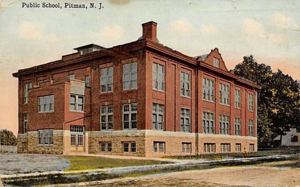 Public Schol Pitman, New Jersey Postcard